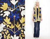 Vintage 60s 70s HEAVILY EMBROIDERED Boho Hippie Long Vest // Ethnic Jacket // Velvet feel // India