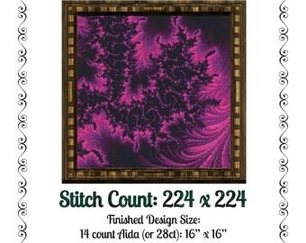 Fractal Cross Stitch Pattern 5012 Patterns Instant Download pdf Cross Stitch Design