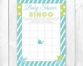 Baby Shower Bingo Game. Print-it-Yourself 'Under the Sea' Baby Shower Bingo Game. INSTANT DOWNLOAD
