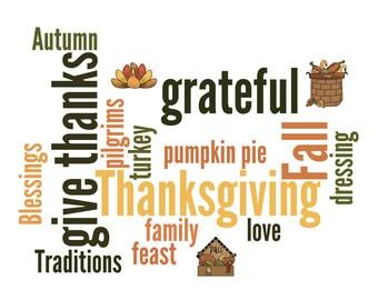 Thanksgiving Art Print, 8 by 10, you print, Thanksgiving party decor, Thanksgiving print, DIGITAL FILE