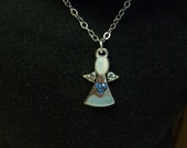 "Choose one American Girl 18 "" inch Doll BLUE Angel with HEART pendant Silvertone chain Necklace Jewelry Accessories Bracelet"