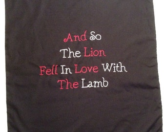 Twilight Inspired, So the Lion fell for the Lamb, Throw Pillow