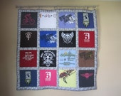 Custom T-Shirt Quilt for Caitlin - Handmade - Christmas - Keepsake Memory Sports College Sorority Swimming Volleyball Baseball High School