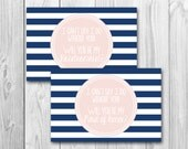 Will you be my bridesmaid, maid of honor card, bridal party invite, instant download, navy and pink