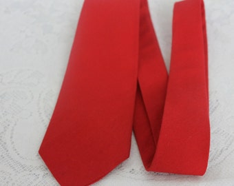 Vintage Red Cotton Mens Tie