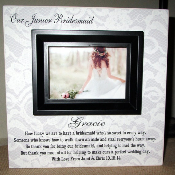 ... Wedding Party Sign Picture Frame Wedding Gift for Junior Jr Bridesmaid