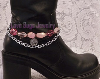 Pink Boot Jewelry, Boot Bracelet, Boot Bling, Boot Jewelry, Cowgirl Boot Bling, Boot Band Bracelet