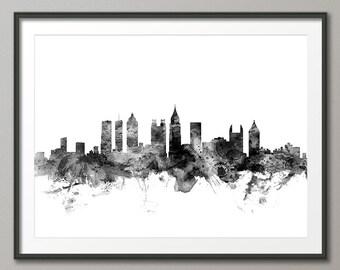 Atlanta Skyline, Atlanta Georgia Cityscape Art Print (1454)