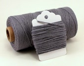 Solid Grey Baker's Twine . Solid Gray Divine Twine . Choose Any Number of Yards