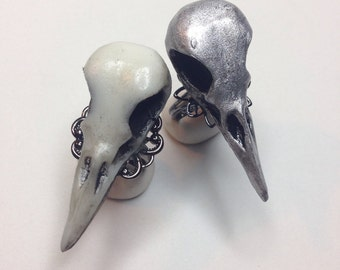 Taxidermy Raven bird skull ring (1)