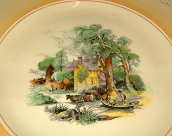1940s Clarice Cliff Plate Newport Pottery Plate Antique Plate Vintage Charger Vintage Platter Vintage Serving Vintage Table Vintage Kitchen