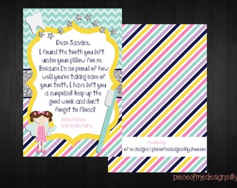 Tooth Fairy Note | Personalized Note From The Tooth Fairy | Custom Tooth Fairy Note | Tooth Fairy | Lost Tooth