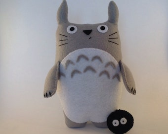 My Neighbour Totoro -  Large soft felt plush toy - Studio Ghibli Japanese animated character