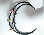RUBBER necklace, ARTIST made, fun,  PLAYFUL,  unique,    ultralight, affordable design, model Delore