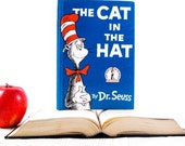 Kindle Cover or Nook Cover- Ereader Case made from a Book- The Cat in the Hat Dr. Suess