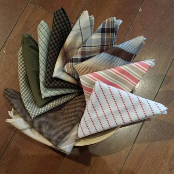Cloth Napkins Made From Men S Shirts