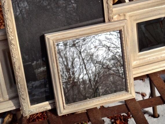 Mirror Painted Mirror Shabby Mirror Painted Mirror Rustic Decor