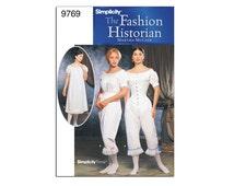 Martha McCain Regency/Victorian/Civil War underthings, corset, drawers, chemise, shift underwear Pattern Size 6-12: Simplicity 9769