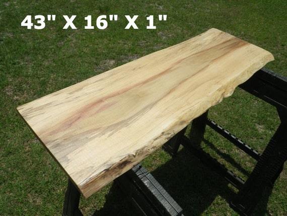 Live edge poplar finished natural edge wood slab breakfast for Finished wood slabs