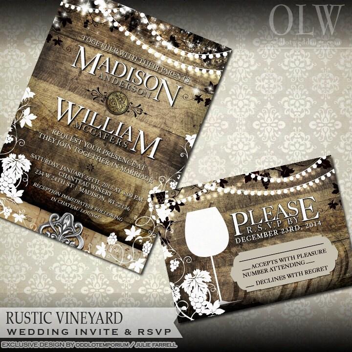 winery invitations | etsy, Wedding invitations