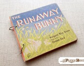 The Runaway Bunny Up-cycled Recycled Handmade Journal Travel Journal Guest Book Blank Book Vintage Childrens Book
