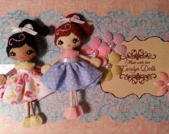 Kasey & Ruby Sunshine Teeny Pocket Felt Doll/Brooch Pattern Pdf