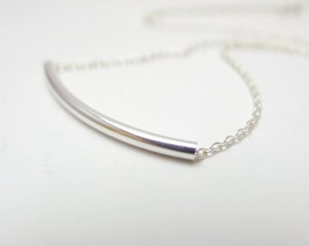Minimalist Bar Necklace / 925Silver / 14K Gold Filled