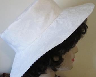 White Roses Beach Sun Garden Hat