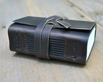 Small Coffee Brown Leather Journal