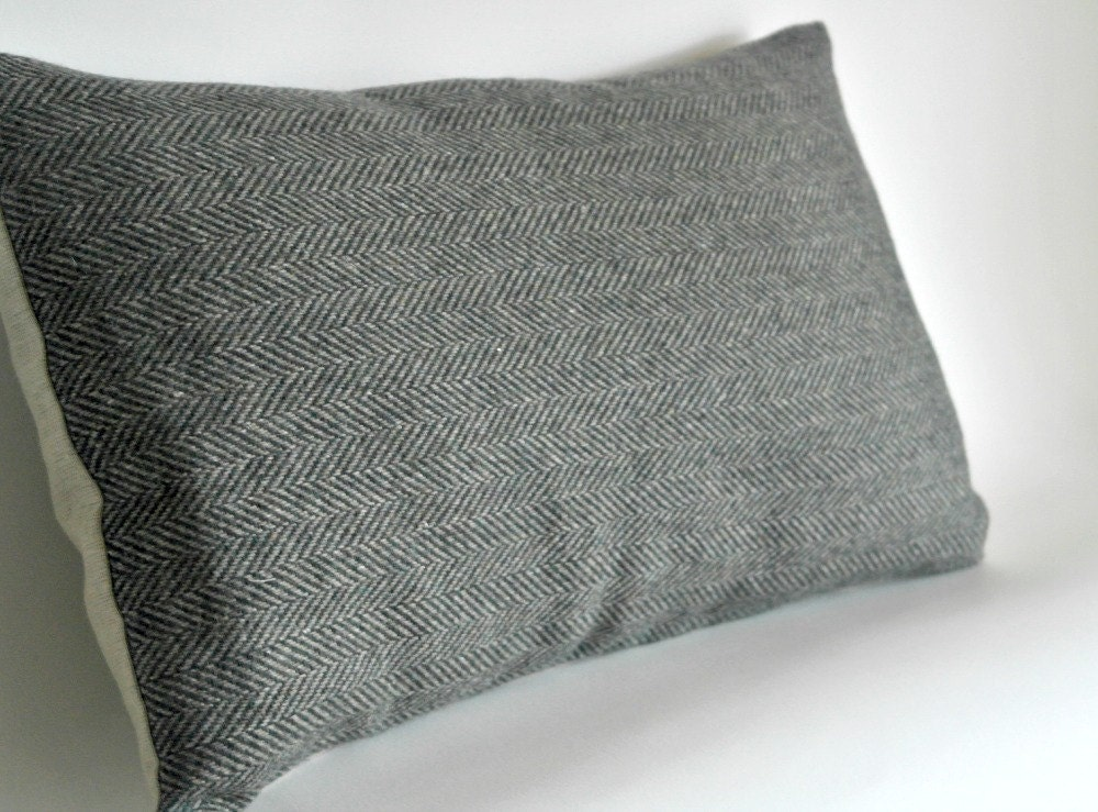 Decorative Oblong Lumbar Throw Pillow Cover Olive Green and