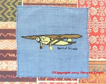Spirit of St. Louis Airplane Cross Stitch Pattern PDF