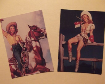 PINUP COWGIRLS MAGNETS Gil Elvgren PinUp Girls Refrigerator Magnets Great Gift Idea