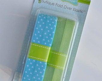 Babyville Boutique FOE 2 pk - pale blue dot/spring green