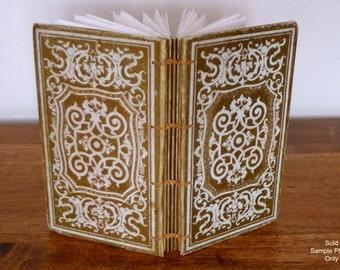 Poet Guest Book, Wedding Book, Custom Journal, Boho Guestbook, Anniversay Keepsake, Literary Wedding, Gold Accents Antique Book Journal