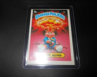 1985 Adam Bomb garbage pail kids trading card - sticker US - original 80s vintage GPK