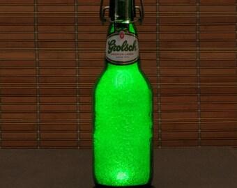 Grolsch Lager LED Beer Bottle Lamp Big 16oz Night Light Bar Lamp Man Cave Pub Holland