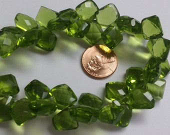 Parrot Green Funky Cut Faceted