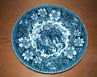 "Coaching Taverns 1828 Royal Tudor Ware England 6"" Plate Vintage"