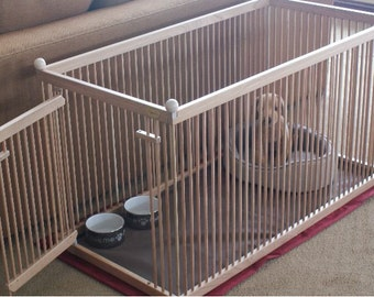 4\'x4\' RED OAK Large Indoor Dog Kennel with Durable