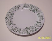 Sterling Verified China Plate Green Flowers