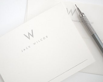 UTILITY Silver Letterpress Stationery Set - Special Edition - Mid-Century Modern