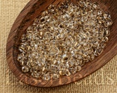 20g Twin seed beads Two hole beads Clear gold lined TWIN 1