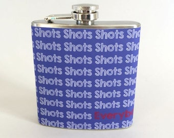 Whiskey Flask Shots Stainless Steel 6oz Liquor Flask