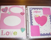 Lot of Assorted 8.5x11 Premade Scrapbook pages total of 16 pages