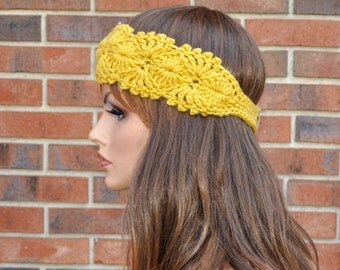 Soft  headband, 4 Season  headband,  Very cute, Handmade Accessory,  Womens Crochet Headband.