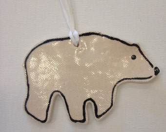 Polar Bear Ornament, Free Personalization