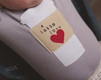 """Swanky Shank """"A Latte Love"""" Dyed Bodysuit/Tee"""