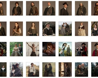 Instant Download: The Outlander - 28 Scrabble Tile Sized Images