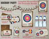 Complete Archery Birthday Party Bundle | Archery Party Invitation and Decor | Archery Party Idea | Archery Printable Party Package