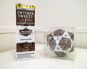Chocolate Swisher Sweets Cigarillo Origami Ornament.  Upcycled Recycled Repurposed Art